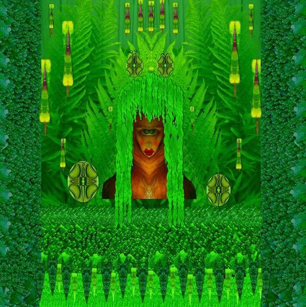 The Fantasy Girl In The Fauna  Art Print