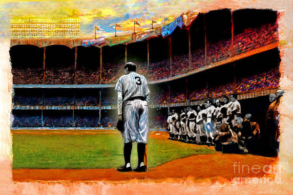 Baseball Hall Of Fame Mixed Media - The Farewell by Alan Greene
