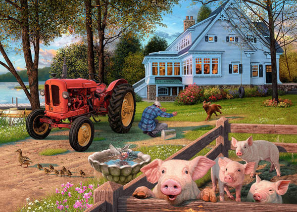 Wall Art - Painting - The Farmhouse by MGL Meiklejohn Graphics Licensing