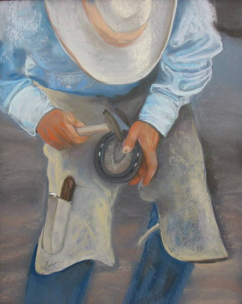 Pastel - The Farrier by Sherri Anderson