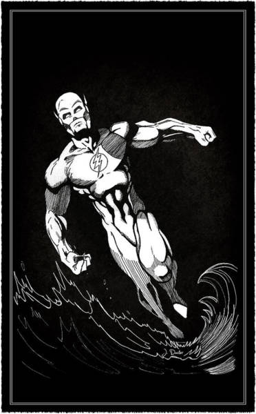 Flash Wall Art - Photograph - The Fastest Man Alive by Mark Rogan