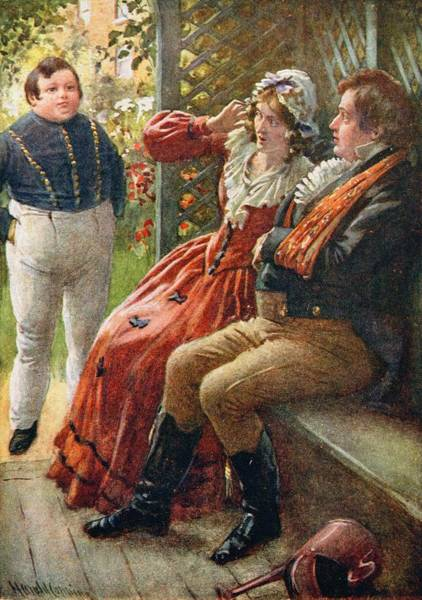 1812 Photograph - The Fat Boy, Illustration For Character Sketches From Dickens Compiled By B.w. Matz, 1924 Colour by Harold Copping