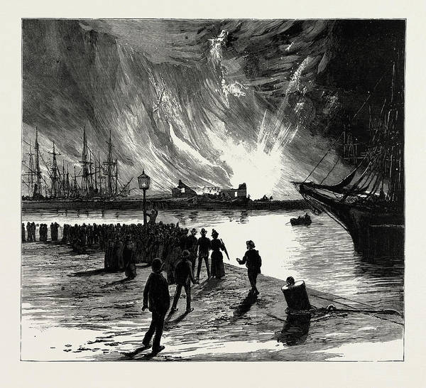 Petroleum Drawing - The Fatal Explosion At Antwerp, Belgium by Litz Collection