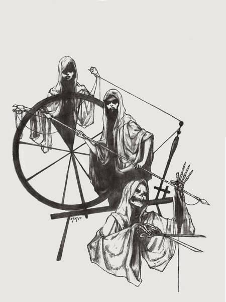 Destiny Drawing - The Fates by Amiri Bennett