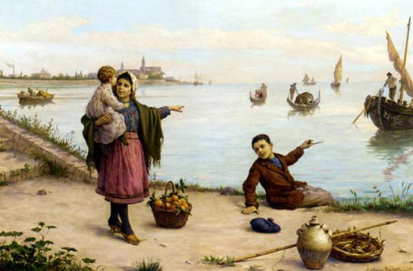 Fishing Pole Digital Art - The Fathers Return by Antonio Paoletti