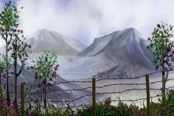 Digital Art - The Fence by Tony Rodriguez