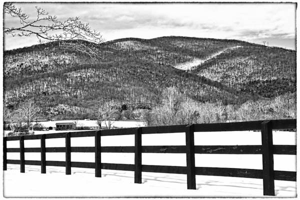 Art Print featuring the photograph The Fenceline B W by Jemmy Archer