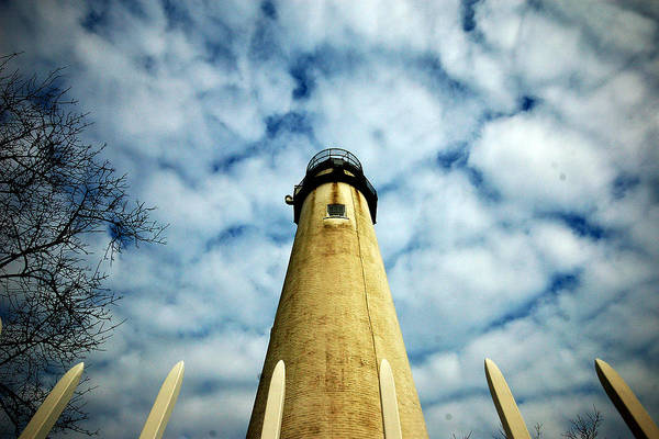 Photograph - The Fenwick Light And A Mackerel Sky by Bill Swartwout Photography