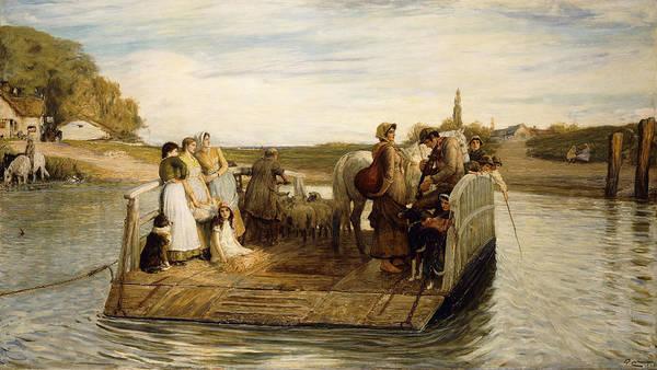 People Watching Painting - The Ferry by Robert Walker Macbeth