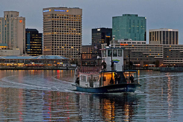 Norfolk Va Wall Art - Photograph - The Ferry To Portsmouth by Jerry Gammon
