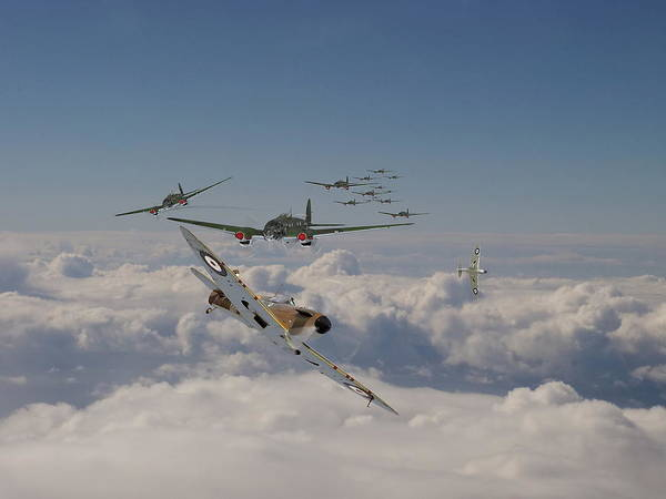 Spitfire Photograph - The Few In Action by Pat Speirs
