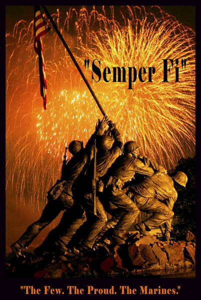 Wall Art - Digital Art - The Few The Proud The Marines by Government Photographer