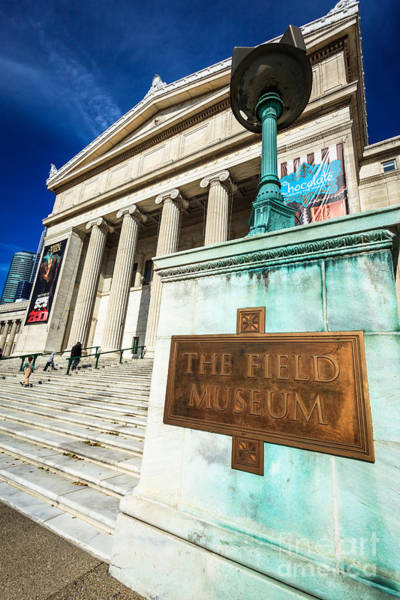 Editorial Photograph - The Field Museum Sign In Chicago by Paul Velgos