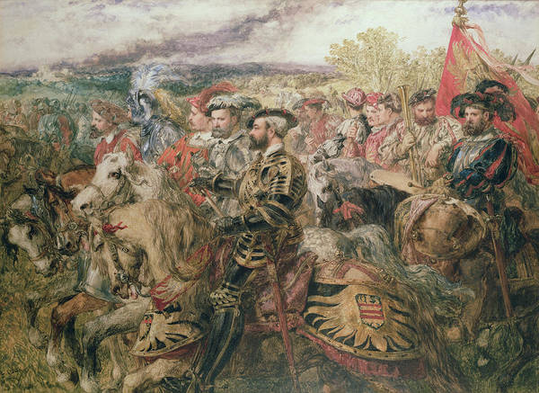 Camp Painting - The Field Of The Cloth Of Gold, 1520 by Sir John Gilbert