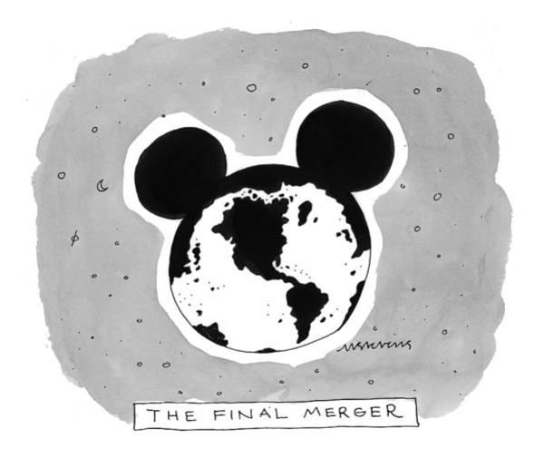 Disney Drawing - 'the Final Merger' by Mick Stevens