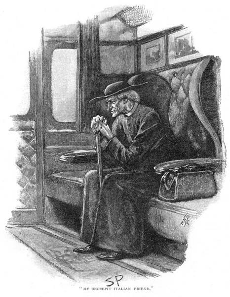 Wall Art - Drawing - The Final Problem  Holmes Travels by Mary Evans Picture Library