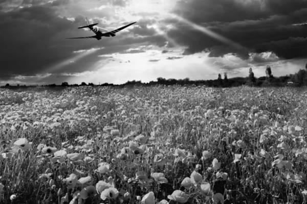 Photograph - The Final Sortie Dakota Version Black And White Version by Gary Eason
