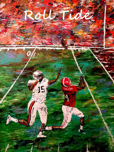 Wall Art - Painting - The Final Yard Roll Tide  by Mark Moore