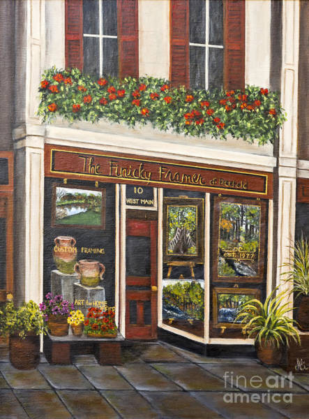 Framing Painting - The Finicky Framer By Alison Tave by Sheldon Kralstein