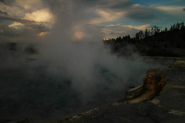 Firehole River Wall Art - Photograph - The Firehole  by Jeff Swan