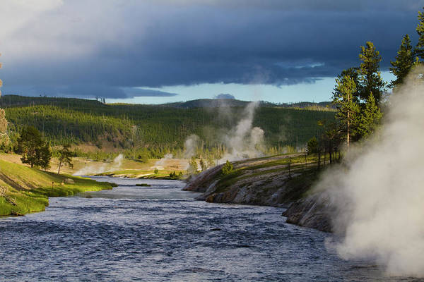 Firehole River Wall Art - Photograph - The Firehole River In Yellowstone by Mark Miller Photos