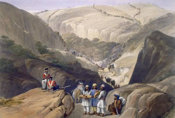 Soldier Drawing - The First Descent Through The Koojah by James Atkinson