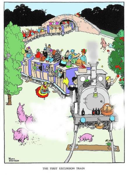 Wall Art - Photograph - The First Excursion Train By W. Heath Robinson by Adam Hart-davis/science Photo Library
