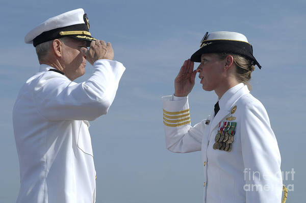 Norfolk Naval Station Wall Art - Photograph - The First Female Commanding Officer by Stocktrek Images
