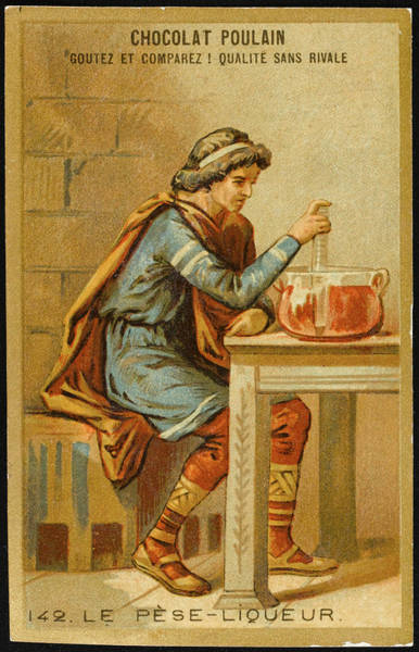 Wall Art - Drawing - The First Liquid Measure by Mary Evans Picture Library