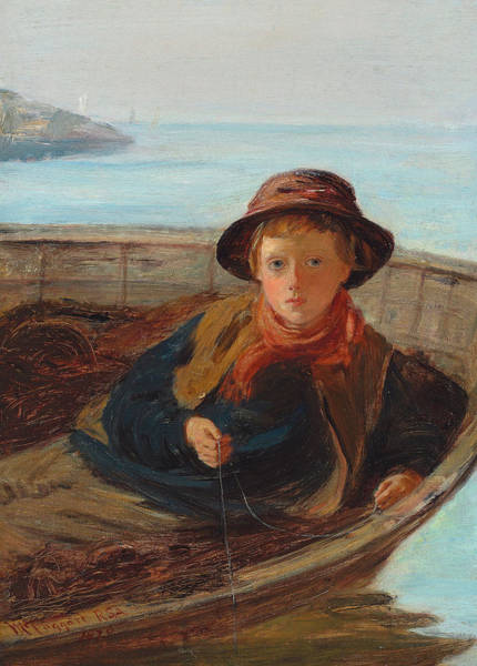 Coast Line Painting - The Fisher Boy by William McTaggart
