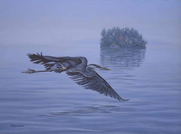 Marsh Bird Painting - The Fisherman by Richard De Wolfe