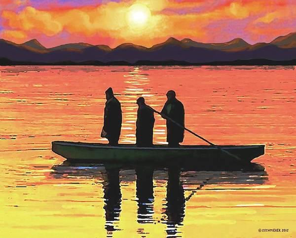 Painting - The Fishermen by Sophia Schmierer