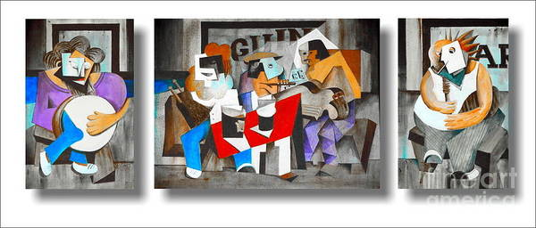 Painting - The Five Musicians by Val Byrne