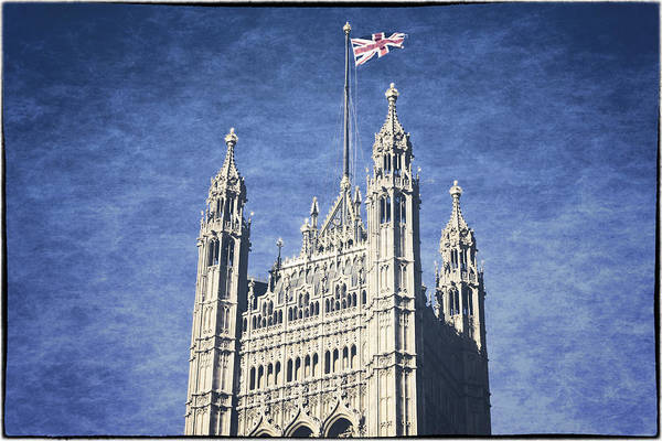Houses Of Parliament Photograph - The Flag Flies by Joan Carroll