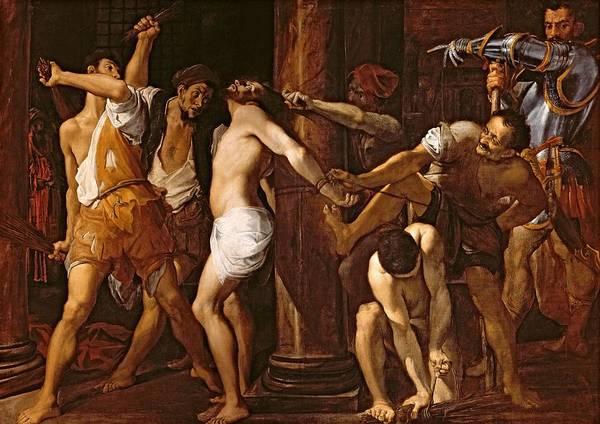 Wall Art - Photograph - The Flagellation Of Christ, 1586-87 Oil On Canvas by Lodovico Carracci