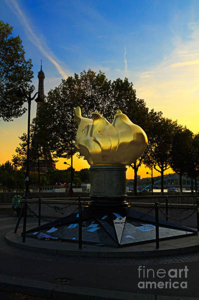 Wall Art - Photograph - The Flame Of Liberty In Paris by Louise Heusinkveld