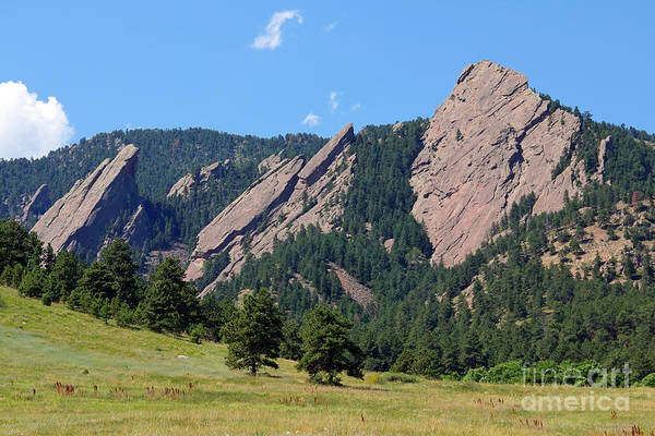 Flatirons Photograph - The Flatirons by Bob Hislop