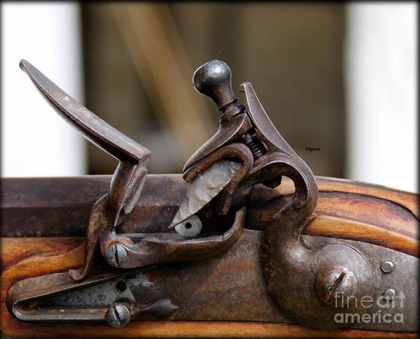 Musket Digital Art - The Flintlock  by Steven Digman