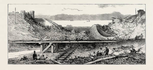 Wall Art - Drawing - The Floods - Ruins Of The Llandulas Viaduct On The London by English School