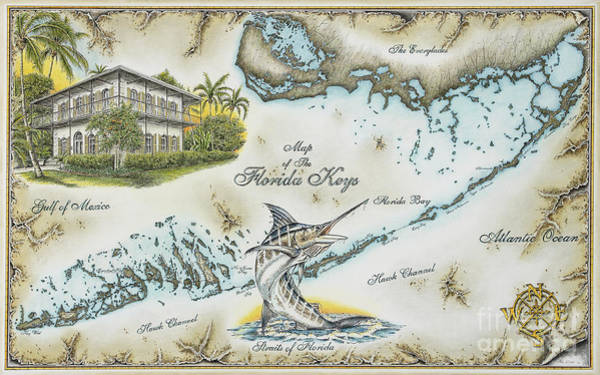 The Florida Keys Art Print by Mike Williams