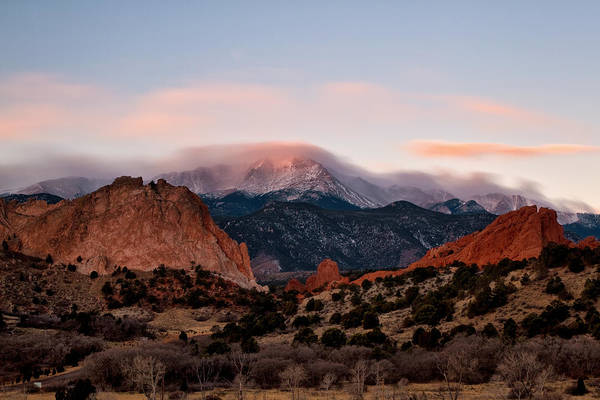 Fourteener Photograph - The Flow Over Pikes Peak by Ronda Kimbrow