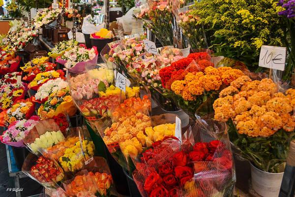 Photograph - The Flower Market by Allen Sheffield