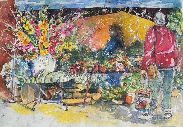 Painting - The Flower Vendor by Carol Losinski Naylor