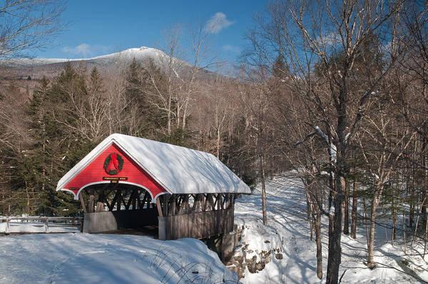 The Flume Bridge In Winter Art Print