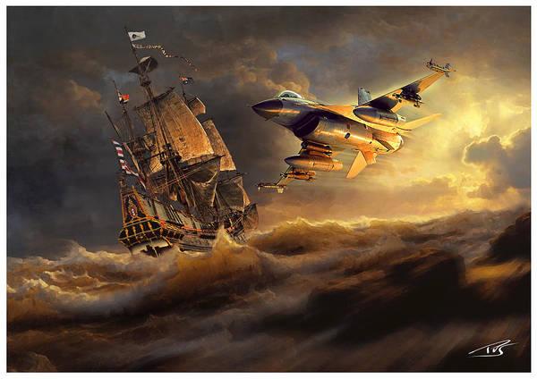Cockpit Digital Art - The Flying Dutchman Part One by Peter Van Stigt