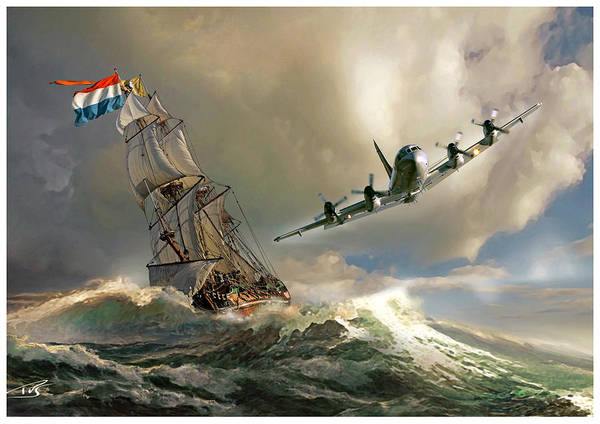 Cockpit Digital Art - The Flying Dutchman by Peter Van Stigt