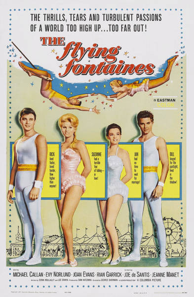 Trapeze Photograph - The Flying Fontaines, Us Poster Art by Everett