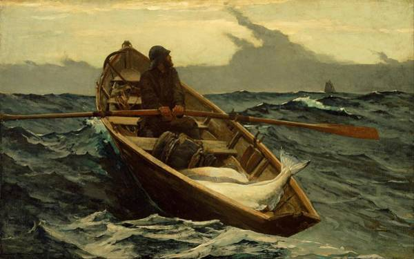 Painting - The Fog Warning Winslow Homer 1885 by Movie Poster Prints