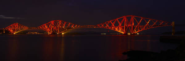 The Forth Bridge By Night Art Print