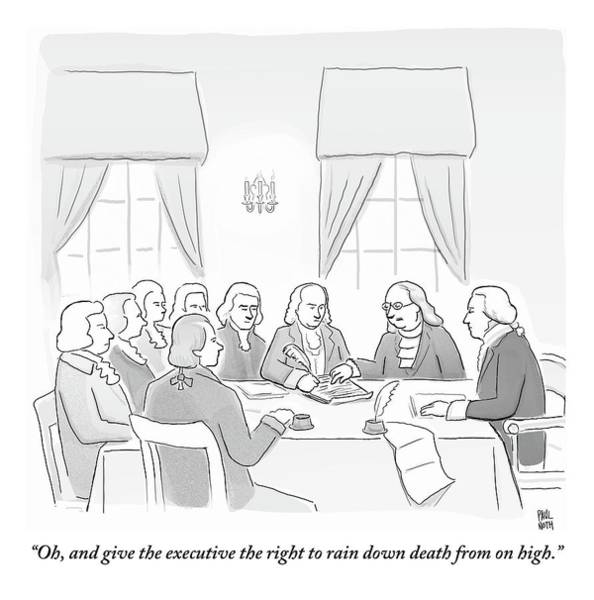 War Drawing - The Founding Fathers Drafting The Constitution by Paul Noth